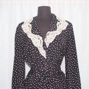 Victoria's Secret Polka Dot Vintage Sleeping Robe